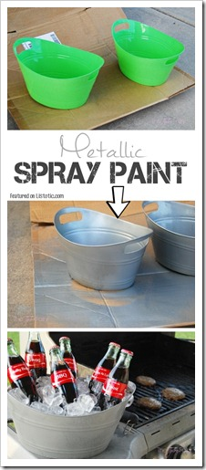 1.-Take-plastic-bins-from-the-Dollar-Store-and-upgrade-them-using-metallic-spray-paint-to-give-them-a-tin-finish-29-Cool-Spray-Paint-Ideas-That-Will-Save-You-A-Ton-Of-Money