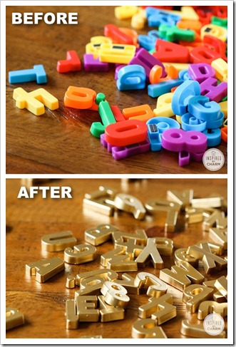 9.-DIY-Gold-Magnetic-Letters-29-Cool-Spray-Paint-Ideas-That-Will-Save-You-A-Ton-Of-Money